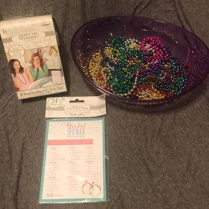 ⭐️⭐️⭐️Bridal shower games and extra Bead necklaces
